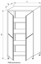 Szafa magazynowa z drzwiami skrzydłowymi RMM-1207 *