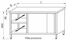 Stół przelotowy z drzwiami suwanymi RMS-1036 *