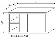 Szafka wisząca z drzwiami suwanymi RMSZ-1083 *