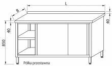 Stół przyścienny z drzwiami suwanymi RMS-1022 *