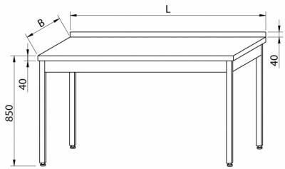 Stół przyścienny RMS-1001